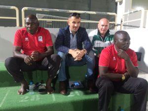Uganda coach Milutin Sredojević spies on Ghana in Dubai