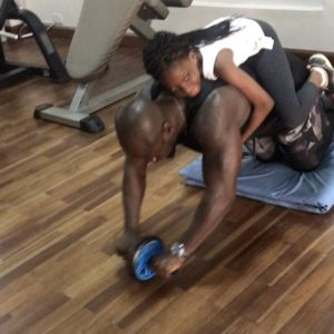 VIDEO: Watch Stephen Appiah workout with daughter in the gym