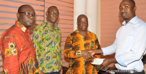 Goil presents monthly sponsorship package to Kotoko prior to GPL kick off