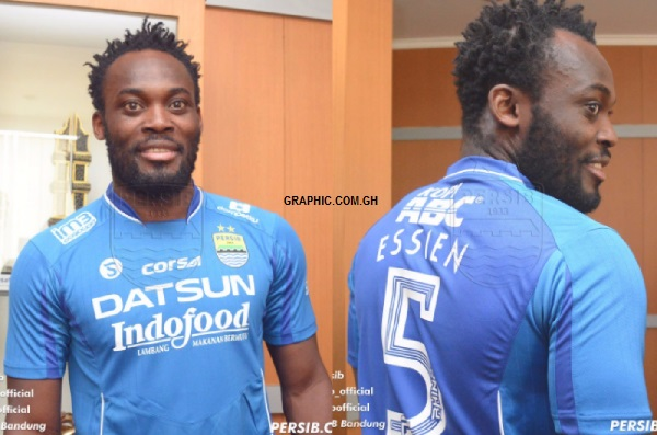 Michael Essien joins Indonesian side Persib Bandung
