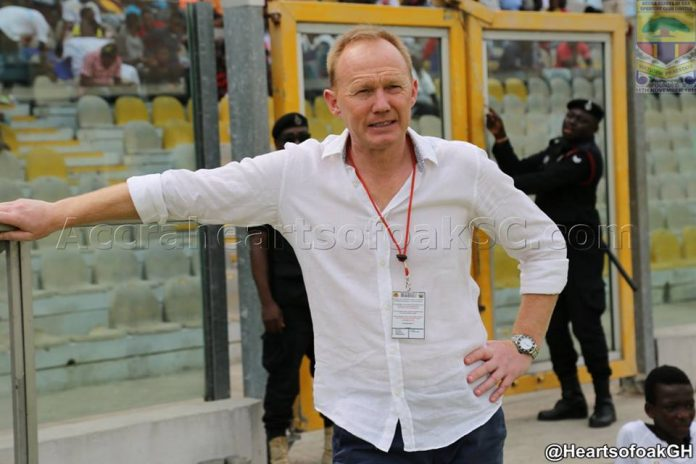 Hearts coach Frank Nuttall not happy with Aduana defeat