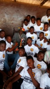 Tamale Utrecht academy presents U15 trophy to traditional leaders in the North