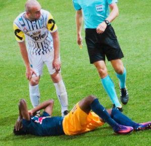BIG BLOW: Samuel Tetteh suffers season-ending knee injury