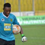 Kotoko goalkeeper Ernest Sowah begins training after recovering from an ankle injury