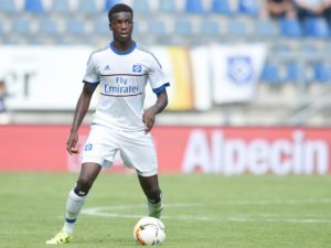 Ghana's Hamburg defender Gideon Jung sustain thigh injury