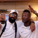Photos: Asamoah Gyan arrives in Tehran with Al Ahli for Champs Lge clash