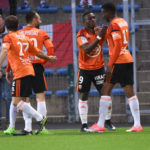Majeed Waris applauds teammates and fans for their 5-1 triumph over Metz