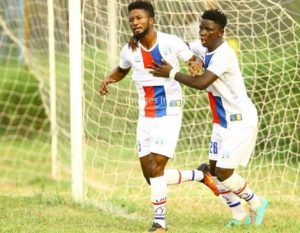 Liberty Professionals striker Bernard Arthur dedicates goal for the late Sam Ardey