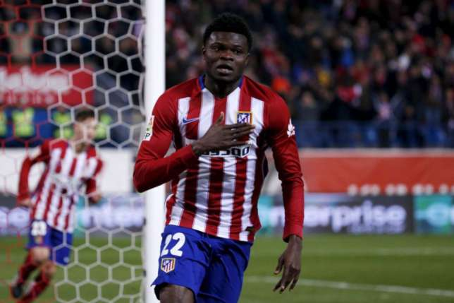 Thomas Partey scores as Kevin Boateng sees RED in Atletico Madrid heavy win over Las Palmas