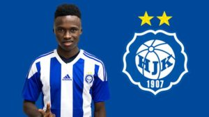 Inter Allies youngster Evans Mensah handed a 3 year deal by HJK Helsinki