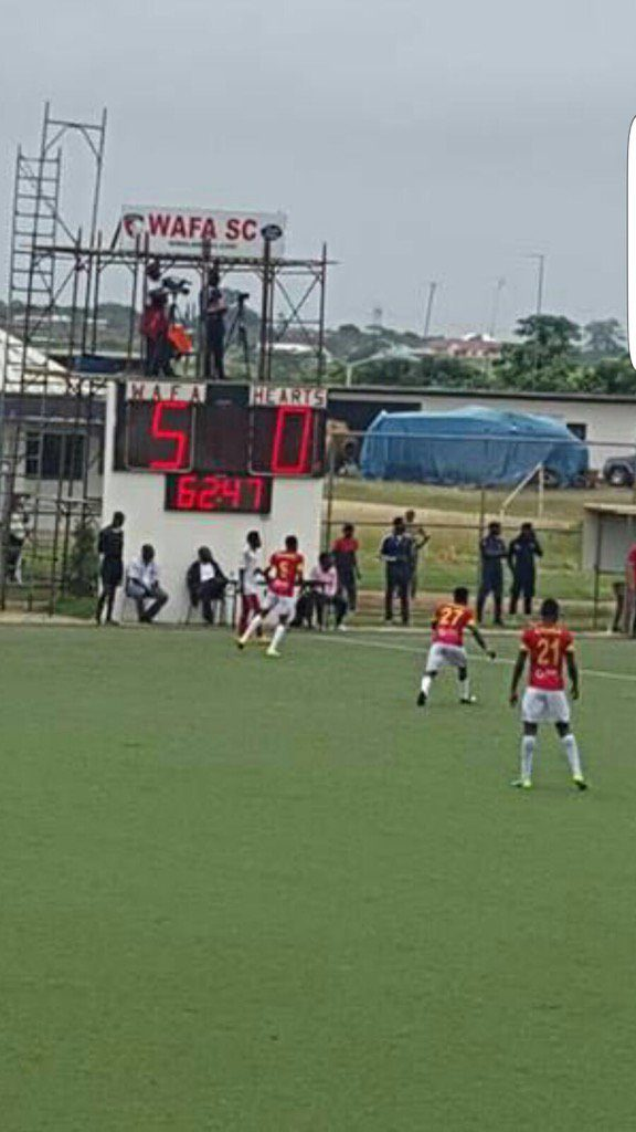 Match Report: WAFA dismantle Hearts 5-0 in Sogakope