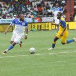 Ghanaian midfielder Gladson Awako scores and sees red in Don Bosco's game with Motema Pembe