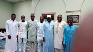 Black Stars players prayed at Masjid-ul-Mumineen in Houston ahead of US-Mexico friendlies
