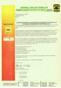 Kotoko National Circles Council demand inquiry into the sale of Dauda Mohammed