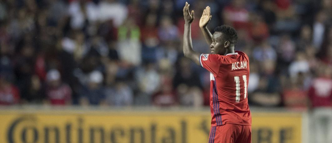 Ghana striker David Accam nets first MLS hat trick