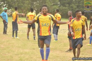 Richard Yamoah returns for Hearts but won't feature in Elmina Sharks game