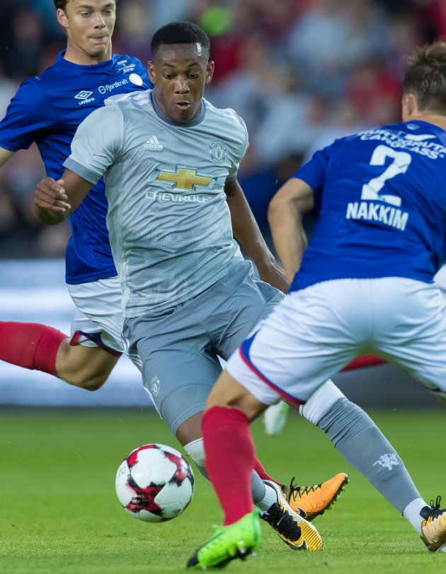 Man Utd legend Neville says starting Martial 'would be unfair'