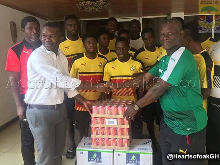 Accra Hearts of Oak donate to Black Stars B ahead of Burkina clash