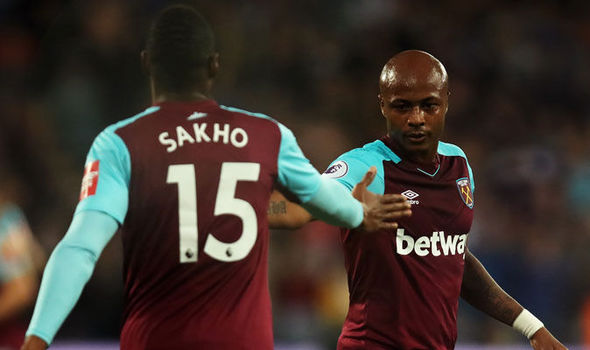 Andre Ayew makes cameo appearance in West Ham defeat to Tottenham