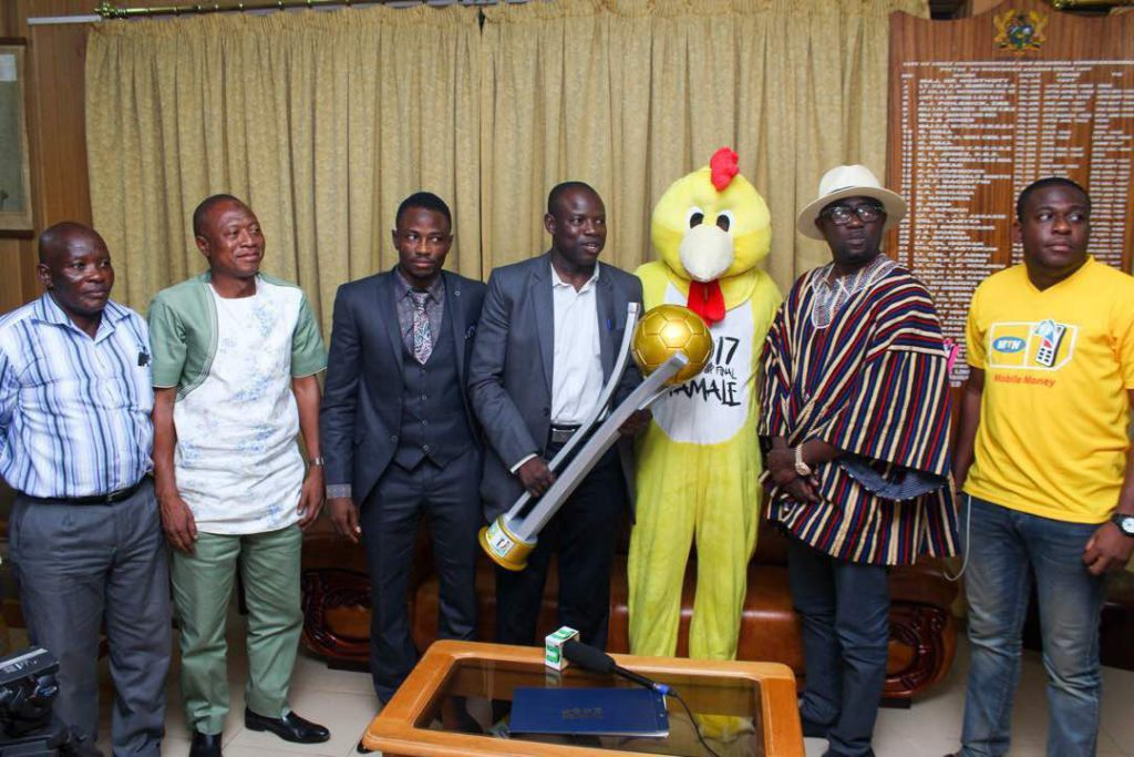 MTN FA Cup trophy and Mascot arrive in Tamale ahead of final
