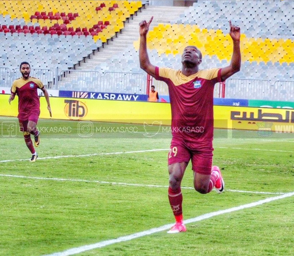 Black Stars new boy John Antwi scores for El-Maqasa in defeat to ENPPI