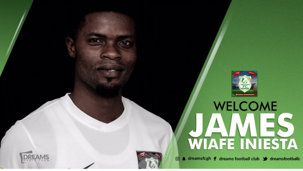 Dreams FC announce signing of James Iniesta