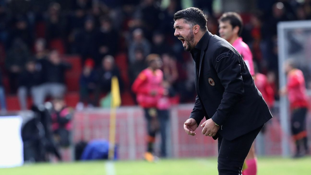 Benevento keeper scores late leveller to deny Gennaro Gattuso's AC Milan