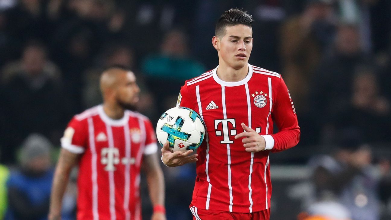 James Rodriguez believes Bayern at same high level as Real Madrid