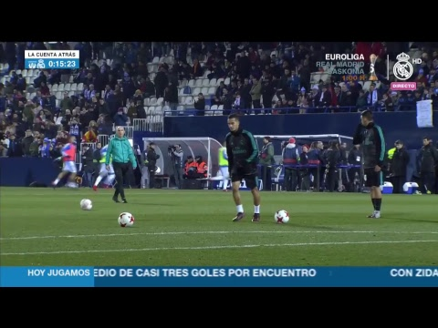 Real Madrid warm up before taking on Leganés!