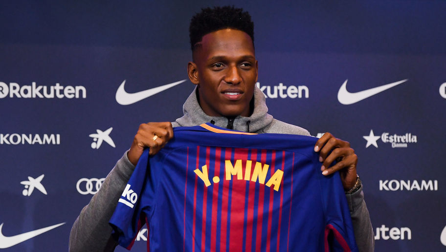 Yerry Mina Officially Assigned Barcelona Shirt Number Worn by Club Legends Puyol & Iniesta