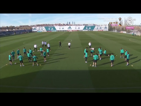 Pre-Leganés training session