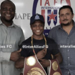 Isaac Dogboe pays courtesy call on Inter Allies FC