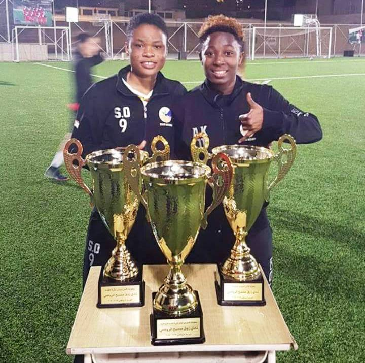 Ghanaian duo Sandra Ansah and Alice Kusi win treble with Lebanese side Zouk Mosbeh FC