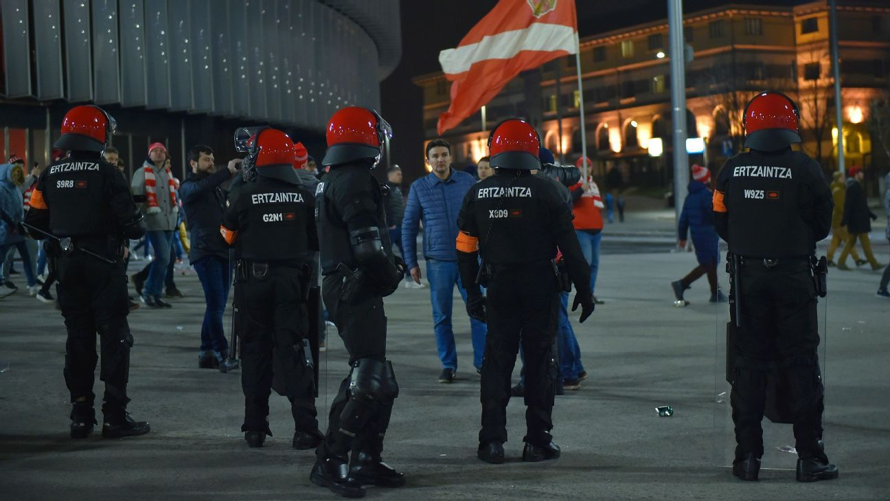 Bilbao mayor demands UEFA act after clashes lead to police officer's death