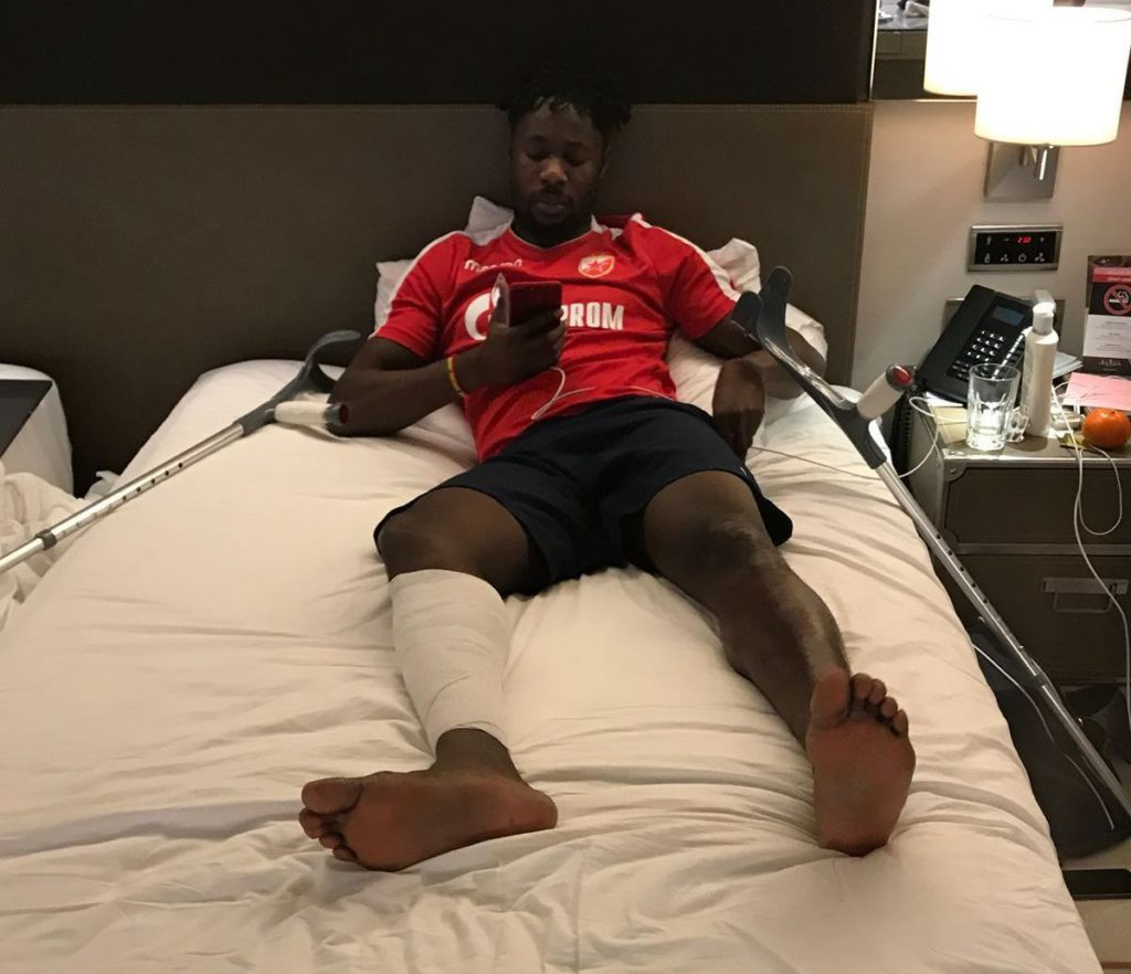 Injured Richmond Boakye Yiadom hopes to be back soon