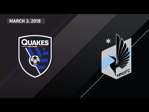 HIGHLIGHTS: San Jose Earthquakes vs. Minnesota United FC | March 3, 2018