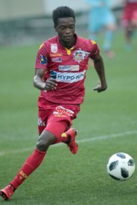 Ghana forward David Atanga scores as St. Poulten lose to Admira in Austria