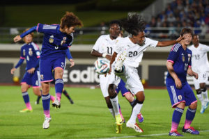 VIDEO: Players and Students from Japan fraternize with Black Queens