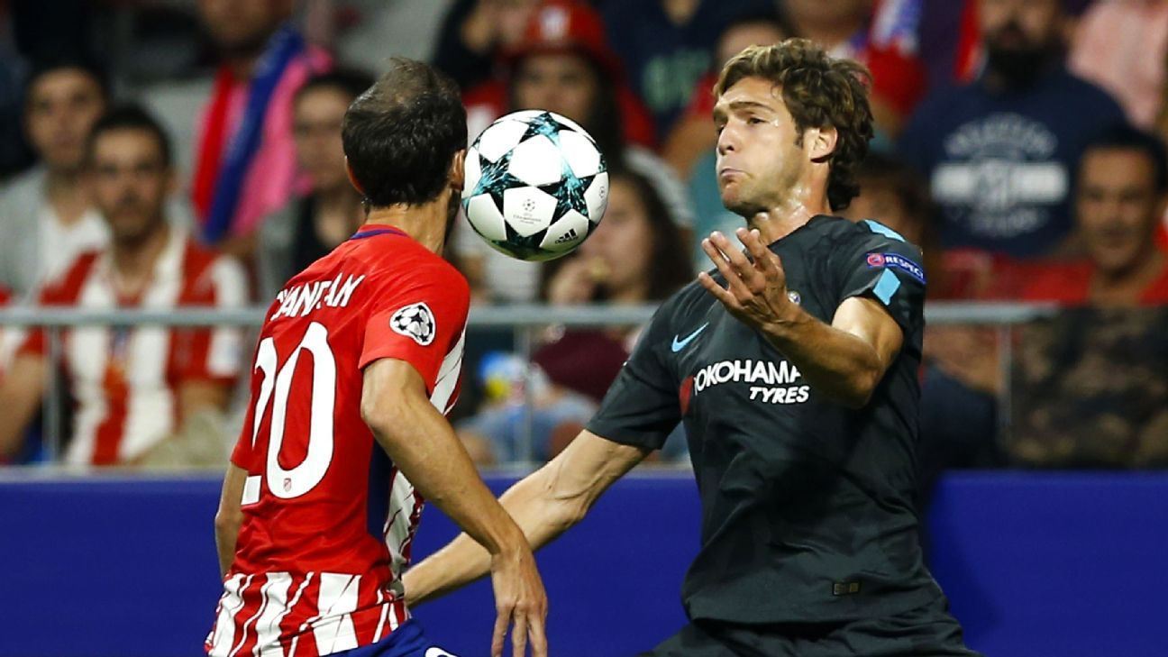 Atletico Madrid right-back Juanfran has hamstring injury