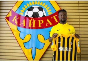 Official: Gideon Baah signs for Kazakh side FC Kairat Almaty