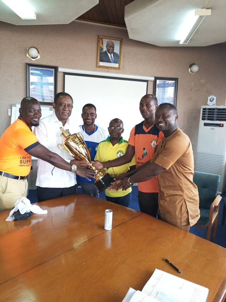 Organizers of Ghana Amputee Football League begin trophy tour