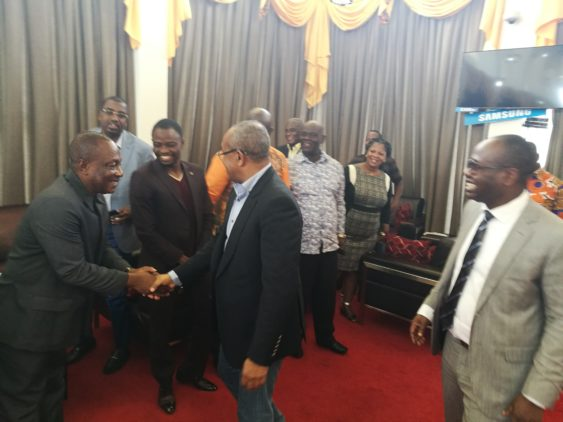 CAF president Dr Ahmad arrives in Ghana ahead of University award