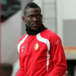 Daniel Opare in Belgium working with personal trainer to keep fit