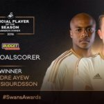Andre Ayew named joint top scorer at Swansea City