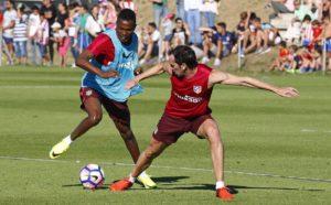 Bernard Mensah impresses in Atletico Madrid pre-season training