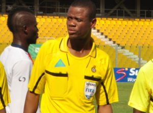 Referee William Agbovi returns after serving his suspension