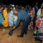 President Mahama cuts sod for New Edubiase sports stadium