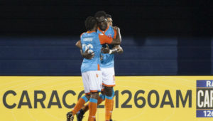 Ghanaian midfielder Kwadwo Poku scores for Miami FC in American second division