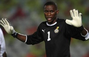 Bechem United near goalie Daniel Adjei capture