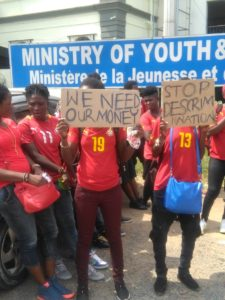 Black Queens hit streets in protest against Sports Ministry's failure to pay over $30k in bonus